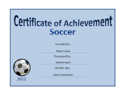 Free Soccer Certificate Templates Printable Soccer Awards Templates Download Them Or Print