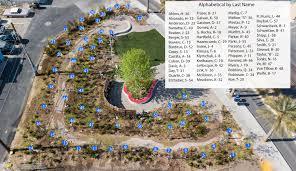 las vegas community healing garden tree map