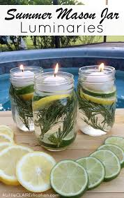 Decorative Oil Jars DIY Summer Mason Jar Luminaries Summer In Jars A Little 88