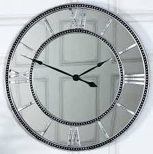 lovely design large mirrored wall clock minimalist skeleton style with roman numerals extra clocks mirror round