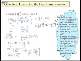 solve log equations with subtraction ln