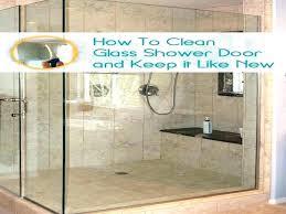 keep glass shower doors clean how glass shower doors cleaning