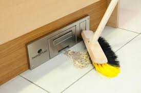 sweepovac in wall kitchen vacuum eliminates need for dustpan