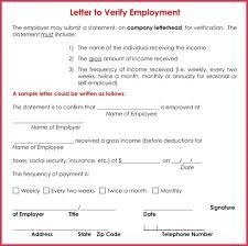 Letter Of Verification Of Employment Sample Verification Of Employment Proof Of E Superb Letter