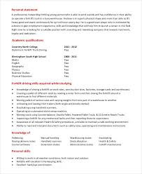 Forklift Driver Resume Template Example From Avoiding Scams In