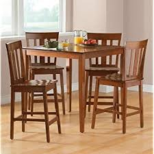 dining room table height. mainstays 5-piece counter height dining set, warm cherry finish room table a