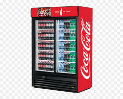 coca cola double door fridge