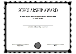 scholarship templates certificate of scholarship 6 the best template collection