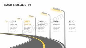 Timeline On Ppt Road Timeline Ppt Pslides