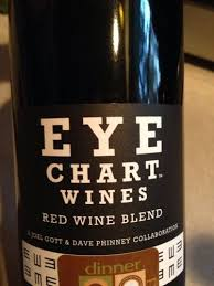 Wine With Eye Chart Label Joel Gott Wines Eye Chart Red Truly Fun Optometry Themed