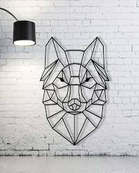 black metal animal wall art