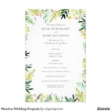 Border Designs For Wedding Programs Meadow Wedding Program Zazzle Com Wedding Programs