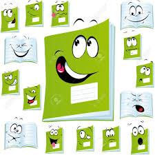 exercise book cartoon with stock vector 14872771