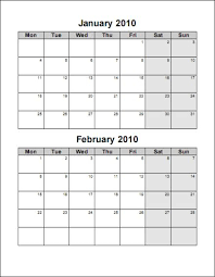 Print 2010 Calendar Six Pages Bi Monthly Ask The