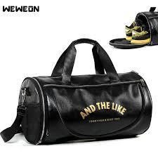 2019 quality pu leather men sport gym bags cross women fitness bag travel handbag waterproof gym yoga bag sac sport bolsa