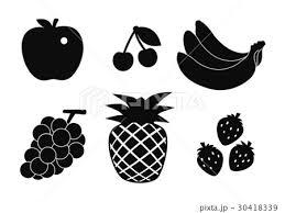 食材シルエット果物のイラスト素材 30418339 Pixta