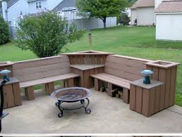 l shaped outdoor bench lovable bench patio furniture planter box and bench plans google search fire l shaped outdoor bench