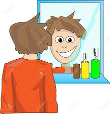 Image result for image of someone looking in a mirror