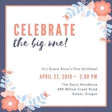 Customize 40 40St Birthday Invitation Templates Online Canva Beauteous Online Birthday Invitations Templates