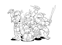 Small Picture Teenage Mutant Ninja Turtles coloring pages