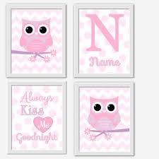 owl baby girl nursery wall art pink lavender purple girl room art personalized baby girl decor on baby girl room decor wall art with owl baby girl nursery wall art pink from dezignerheartdesigns on