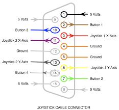joysticks & microcontrollers rahji com joystick schematic diagram pc joystick pinout