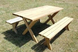 wooden picnic tables with separate benches picnic table with separate benches wooden picnic table separate benches