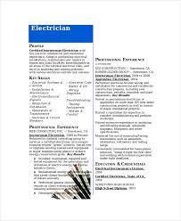 Journeyman Electrician Resume Template