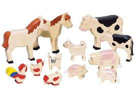 wooden toy farm s set of 12
