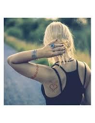 červená Srdce Henna Nalepovací Tetování