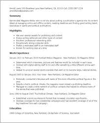 Magazine Editor Resume Template Best Design Tips Myperfectresume