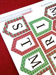 Merry Christmas Banner Print Merry Christmas Banner Printable Christmas Printables