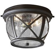 flush mount exterior light. Allen + Roth Castine 10.9-in W Rubbed Bronze Outdoor Flush Mount Light Exterior R