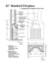 outdoor fireplace blueprints elegant rumford plans for 5