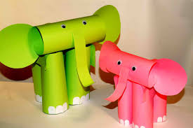 Kids Craft Paper Craft For Kids Paper Elephants Easy Paper Crafts Youtube