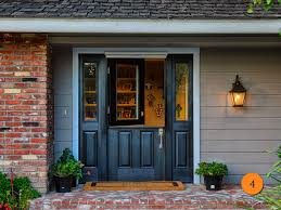 black single front doors. Exellent Single 36x80 Single Black Dutch Entry Door With Shelf And 2 Sidelights White  Clearview Retractable Screen With Front Doors O