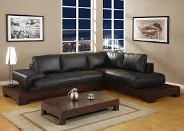 modern furniture living room. Black Sofa Wood Table Rug Lamp Modern Furniture Living Room