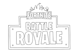 Logo Fortnite Battle Royale Fortnite Battle Royale Kids Coloring Pages