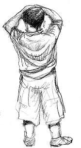 sad boy drawing pencil sketch
