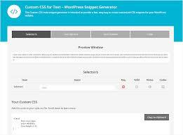 Custom Css For Text Wordpress Snippet Generator