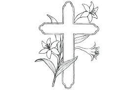 Cross Coloring Page Cross Coloring Page Pages Printable Cross