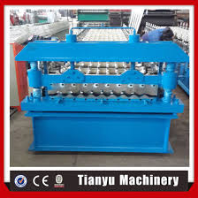 hydraulic cutting plc metal corrugated roofing sheet roll forming machine