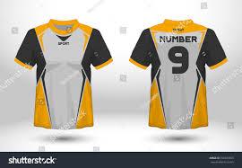 Yellow And Black T Shirt Designs Yellow Black Layout Football Sport Tshirt Stock Vector