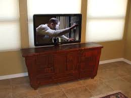 Disappearing TV With Pop Up TV Lift Mounted Behind Furniture - Bedroom tv lift cabinet