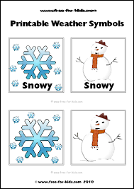 Close the template window after printing to return to this screen. Printable Children S Weather Symbols Www Free For Kids Com