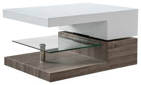 Emerson Mod Swivel Coffee Table With Glass modern-coffee-tables