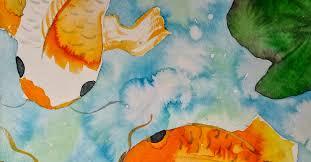 chinese koi fish watercolor paintings
