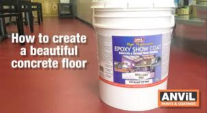 how to apply coating to concrete floors