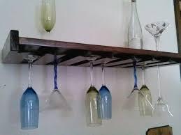 wall mounted wine glass rack plan