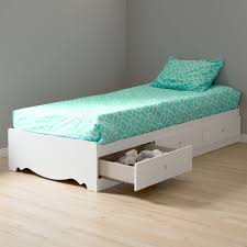 Crystal Twin Storage Bed (39'') with 3 Drawers, Pure White - Walmart.com